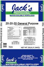 Jack's Professional 25 lb. All Purpose 20 20 20 fertilizer food Jacks Classic