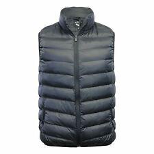 Men's Black Gillet Soft Padded Body Warmer Buttoned Zip Sleeveless Coat Jacket