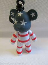 "PLASTIC JOINTED ""NO FACE"" BEAR KEYRING CHARM USA FLAG STARS & STRIPES UK SELLER"