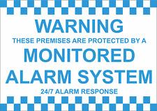 Avvertenza locali protetti da Monitorati Allarme 24/7 risposta-adesivo o Foamex