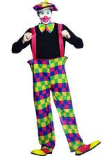 Adulto Disfraz De Circo Payaso armado