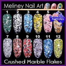 Crushed Marble Flakes Nail Art Decoration Set Shape Manicure Decal Stone