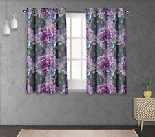 S4sassy Leaves & Begonia Print Eyelet short & long Window Panel Curtains-FL-698B
