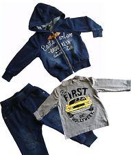 Completo tuta felpa 3 pezzi bambino bimbo mezza stagione jeans taglia 12 mesi