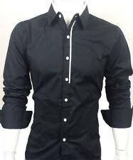 GL Fashions #44# Nouveau Conçu Hommes Casual Slim Robe Chemises UK Taille S/M/L/XL/XXL