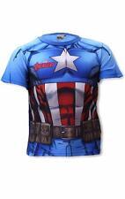 Boys Avengers Iron man Captain America Costume Novelty T-Shirt Top Tee Age 3-12Y