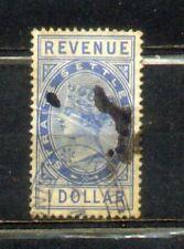 1882 Malaya Straits Settlements  Revenue $1 CV Rm 50
