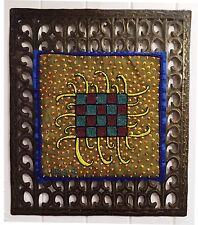 Jean Baptiste Jean Joseph beaded abstract Art on a Milfort Metal Frame