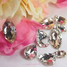 5pcs Clear Beveled Glass Rhinestones Centrepiece Crystal Gem Nail Art Craft