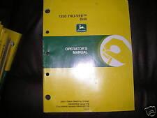 John Deere 1530 Tre-Vee Drill Operator's Manual