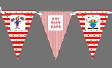CIRCO CLOWN COMPLEANNO PERSONALIZZATA Bambini Festa di Compleanno Bunting