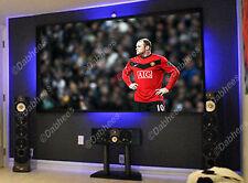 4x 50cm LED BLU STRISCIA DI ILLUMINAZIONE VETRO ARMADIETTO TV RIPIANI ESPOSITORI