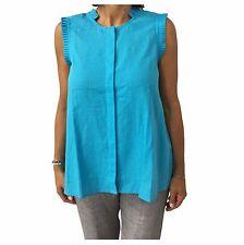 Camisa de mujer sin mangas AND 52% lino 48% algodón