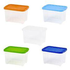 Set de 2 plastique 5 LITRES boîtes rangement Couvercle Empilable À POSER étagère
