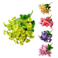bouquet de fleurs en soie, campanule artificielle, decoration de mariage de f 99