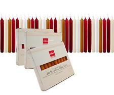 20 Eika Baumkerzen 5 Farben Christbaumkerzen Pyramidenkerzen Kerzen 10,5 x 1,2cm