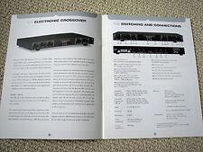 Bryston amplifier / crossover / audio cable brochure