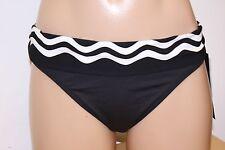 New La Blanca Swimsuit Bikini Bottom BLK White Banded