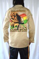 Rasta Jacke King Of Kings Khaki Baumwolle Rasta Jacket Reggae