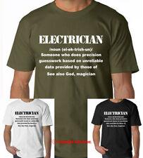 ELETTRICISTA Mens T-Shirt Divertente Regalo Di Natale Per Lui Dad T-shirt T-SHIRT TEE