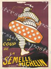 Cartel De Publicidad Vintage Francés Michelin Neumáticos A3/A4 impresión