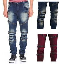 8IGHTH DSTRKT Men's Zip Panel Moto Jeans