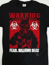 Fear The Walking Dead FTWD Tv Show Warning Infected Zone Biohazard T-Shirt