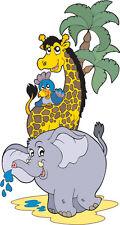 Stickers autocollant muraux enfant Animaux jungle réf 3600 (30 dimensions)