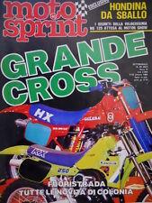 Motosprint 40 1984 Segreti della Honda 125. Cross: Campionato italiano Senior