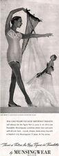 Munsingwear Corsest GIRDLE Stockings & Garters LINGERIE Gown 1947 MAGAZINE AD