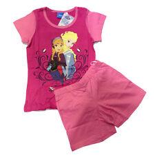 FROZEN pyjama courts t-shirt+short fuchsia coton comme un enfant