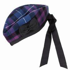 Pride of scotland tartan glengarry chapeau