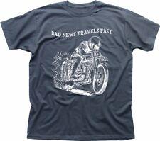 Bad News Fast Biker Yamaha Kawasaki Honda Suzuki motorcycle grey t-shirt FN9296