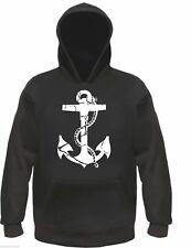 ANKER Kapuzen-Sweatshirt / Hoodie - S bis 3XL - anchor kapitän rockabilly retro