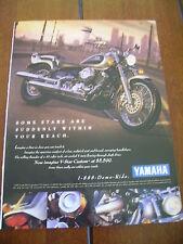 1998 YAMAHA V STAR CUSTOM   ***ORIGINAL AD*** V-STAR