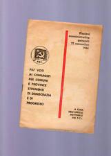 P C I-elezioni amministrative generali 22 novembre 1964