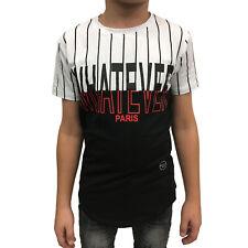 "SQUARED & CUBED - Kinder T-Shirt P-73 ""Whatever"" schwarz/weiß"