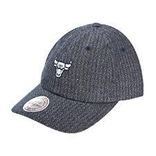 Mitchell & Ness Chicago Bulls Reverse Denim Slouch Men's Strapback Hat Cap Grey