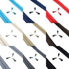 Nylon de alta calidad Espiral Bobina Postal N ° 5 continua Cinta de cremallera ✄ 9 Colores ✄ c2o