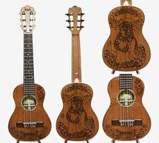 Solid Mahogany Baritone Guitarlele, Bikini Girl Laser01 HU1321~1322
