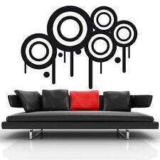 Stickers Mural Cercles Abstrait Design