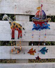 Handmade Resin Giraffe Ship Boat Suncatcher Sun Catcher Window Wind Chime Mobile