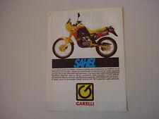 advertising Pubblicità  1988 MOTO GARELLI SAHEL 50
