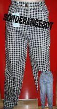 ❤️ Jungen Mädchen Jeans blau weiß schwarz weiß Karo kariert Gr. 146 152 158 NEU