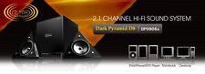 DARK PYRAMID 2.1CH USB HI-FI SPEAKER SYSTEM, COMPUTER,PC, IPOD,PHONE, LAPTOP D8U