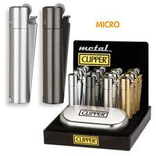 CLIPPER briquet micro métal assorti gaz briquets élégant incl. Boîte Cadeau