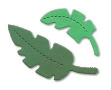 20 FOGLIE GIUNGLA muoiono tagli Sizzix 10 di ogni COLORI ASSORTITI ALBERO PIUMA 2-6.5 cm