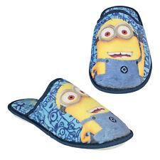 MINIONS pantofole in morbido peluches con suola rialzata in gomme varie taglie