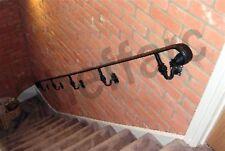 Wrought Iron metal Steel Handrail / Stair rail ORNAMENTAL Bannister Balustrade