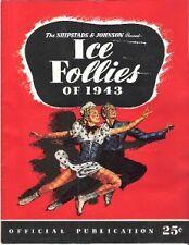 1943 Shipstards & Johnson Ice Follies Program Very Nice